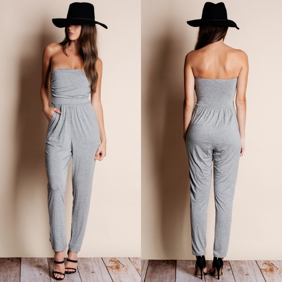 Bare Anthology Pants - Strapless Jumpsuit